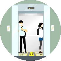 Graphic elevator